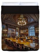 The Periodical Room At The New York Public Library Duvet Cover by Susan Candelario