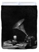 The Phonograph 4 Mono Duvet Cover
