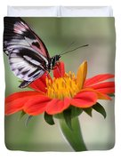 The Piano Key Butterfly Duvet Cover