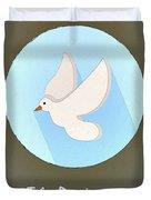 The Pidgeon Cute Portrait Duvet Cover