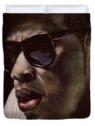 The Pied Piper Of Intrigue - Jay Z Duvet Cover by Reggie Duffie