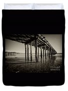 The Pier At Cayucos Duvet Cover