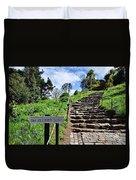 The Pilgrims' Steps Duvet Cover