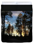 The Pines At Sunset Duvet Cover