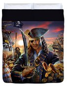 The Pirate Duvet Cover by Adrian Chesterman