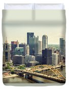The Pittsburgh Skyline Duvet Cover by Lisa Russo