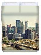 The Pittsburgh Skyline Duvet Cover