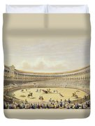 The Plaza De Toros Of Madrid, 1865 Duvet Cover
