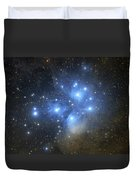 The Pleiades Open Star Cluster Duvet Cover