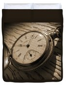 The Pocket Watch Duvet Cover by Mike McGlothlen