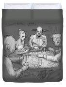 The Poker Game Duvet Cover
