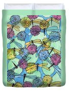 The Pond - An Aerial View Duvet Cover