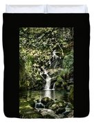 The Pond And The Forest Waterfall Duvet Cover
