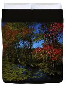 The Pond In Autumn Duvet Cover