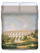 The Pont Du Gard, Nimes Duvet Cover