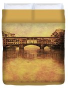 The Ponte Vecchio In Florence Italy Duvet Cover