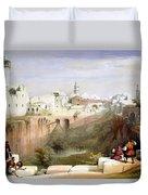 The Pool  Of Bethesda Jerusalem Duvet Cover