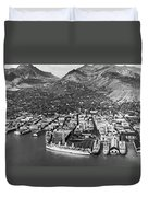 The Port Of Honolulu Duvet Cover
