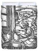 The Potter, 1574 Duvet Cover
