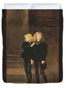 The Princes Edward And Richard Duvet Cover by Sir John Everett Millais