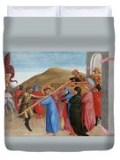 The Procession To Calvary Duvet Cover
