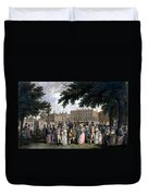 The Promenade In St James Park, C.1796 Duvet Cover
