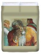 The Prophet Jeremiah Duvet Cover by Michelangelo