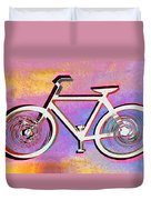 The Psychedelic Bicycle Duvet Cover