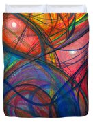 The Pulse Of The Heart Lies Strong Duvet Cover by Daina White