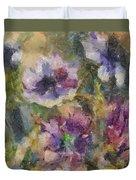 The Purple Bouquet Duvet Cover
