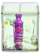 The Purple Medicine Bottle Duvet Cover