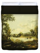 The Quiet Valley Duvet Cover by Jasper Francis Cropsey