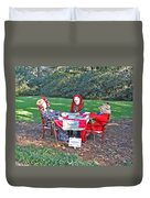 The Quilting Bee Scarecrows Duvet Cover
