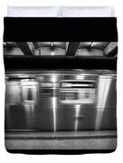 The R Train Nyc Subway Duvet Cover