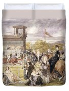 The Races At Longchamp In 1874 Duvet Cover