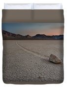 The Racetrack At Death Valley National Park Duvet Cover