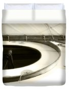 The Racing Sloop  Water Witch  Duvet Cover