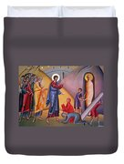 the raising of Lazarus from the dead Duvet Cover