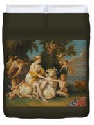 The Rape Of Europa Duvet Cover