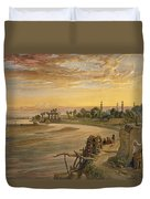 The Ravee River, From India Ancient Duvet Cover