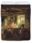 The Ray Of Sunlight, 1857 Oil On Canvas Duvet Cover