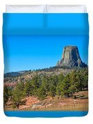 The Realm Of Devils Tower Duvet Cover