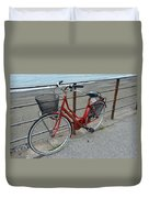 The Red Bicycle Duvet Cover