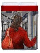 The Red Coat Duvet Cover