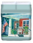 The Red Cottage Duvet Cover