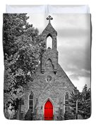 The Red Door Monochrome Duvet Cover