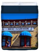 The Red Garter Duvet Cover