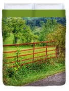 The Red Gate Duvet Cover