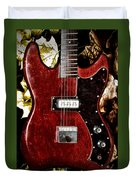 The Red Guitar Blues Duvet Cover by Bill Cannon