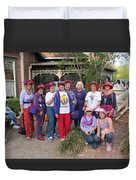 The Red Hat Ladies At The Catfish Plantation Duvet Cover